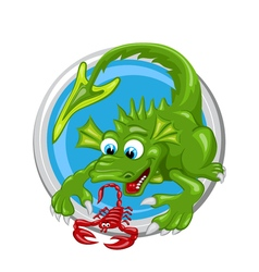 Dragon Scorpio Zodiac sign vector image