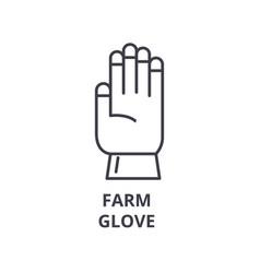 farm glove line icon outline sign linear symbol vector image