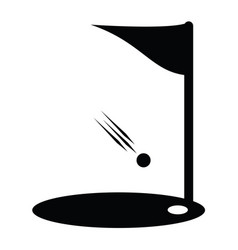 Flags of golf course icon vector