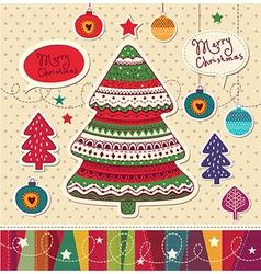 Funky christmas card vector