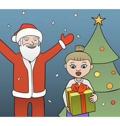 Gift from Santa vector image vector image