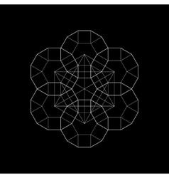 Harmonic sacred geometry Plato The vector image