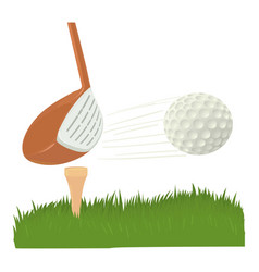 Hit golf ball icon cartoon style vector