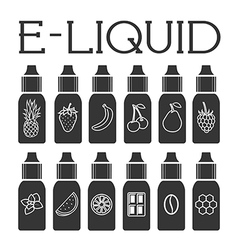 Liquid to vape vector