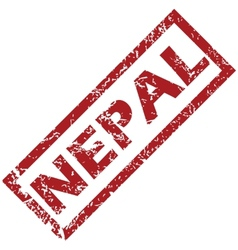 New nepal rubber stamp vector