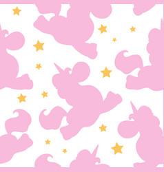 pink shape unicorn pattern vector image