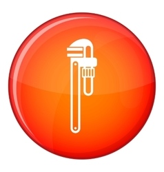 Pipe or monkey wrench icon flat style vector