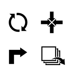 rotation simple related icons vector image vector image