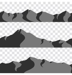 Seamless mountains collection vector