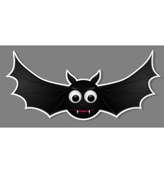 Flying bat isolated on grey background vector