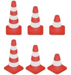 Traffic Cones set vector image