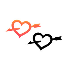 Emblem of valentine day vector