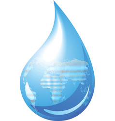 Water drop globe vector