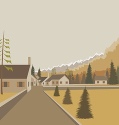 Mountain village background vector