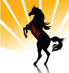 horse fire vector image