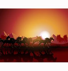 horse sun bust vector image