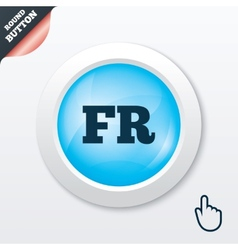 French language sign icon fr translation vector