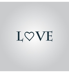 Stylized text love vector