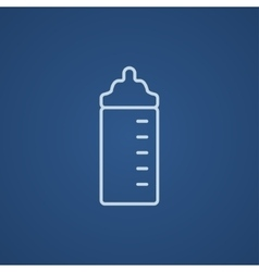 Feeding bottle line icon vector
