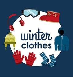 Winter clothes design vector