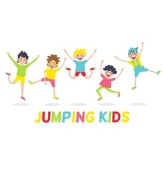 Happy kids isolated on white background vector