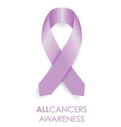 all cancer awareness ribbon vector image vector image