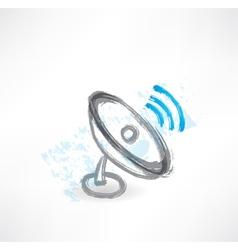 antenna grunge icon vector image
