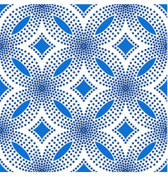 blue flower pattern halftone background vector image