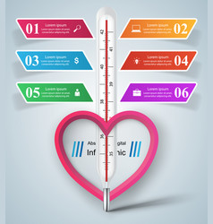business of a thermometerheart vector image