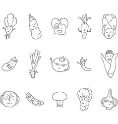 Cartoon vegetables set vector image vector image