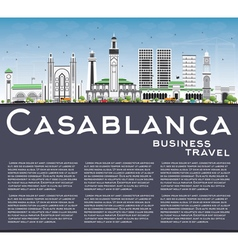 Casablanca skyline with gray buildings vector