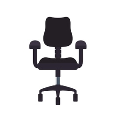 chair seat office work silhouette icon vector image
