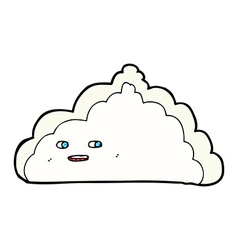 Comic cartoon cloud vector