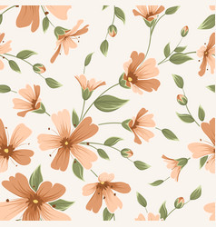 Crimson maroon gypsophila floral seamless pattern vector