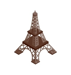 Eiffel Tower isometric 3d icon vector image