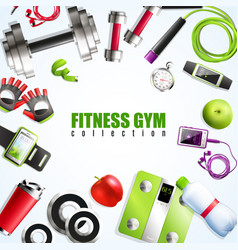 Fitness gym composition vector