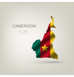 Flag of Cameroon as a country vector image vector image
