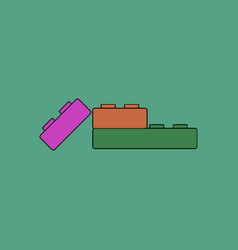 Flat icon design collection kids constructor vector