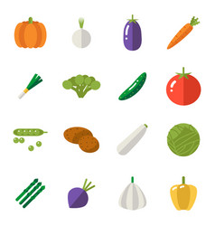food icons set vegetables symbols healthy and vector image vector image