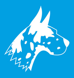Great dane dog icon white vector