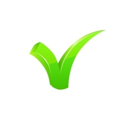 Green checkmark set vector