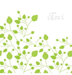 Green leaves bacgkround vector image