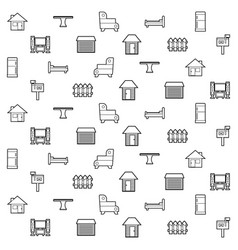 Home pattern vector