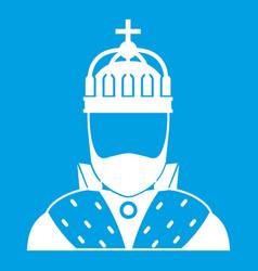 King icon white vector