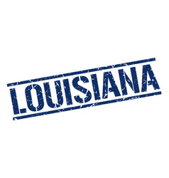 louisiana blue square stamp vector image