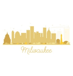 Milwaukee City skyline golden silhouette vector image vector image
