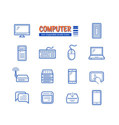Network and mobile devices vector