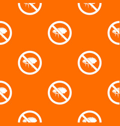 No flea sign pattern seamless vector