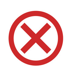 no sign icon simple vector image
