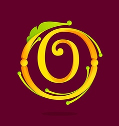 O letter monogram design elements vector